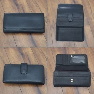 Wilson Leather - Large Black Leather Wallet